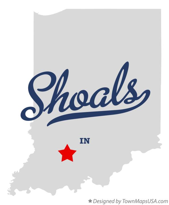 Map of Shoals Indiana IN