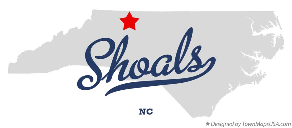 Map of Shoals North Carolina NC