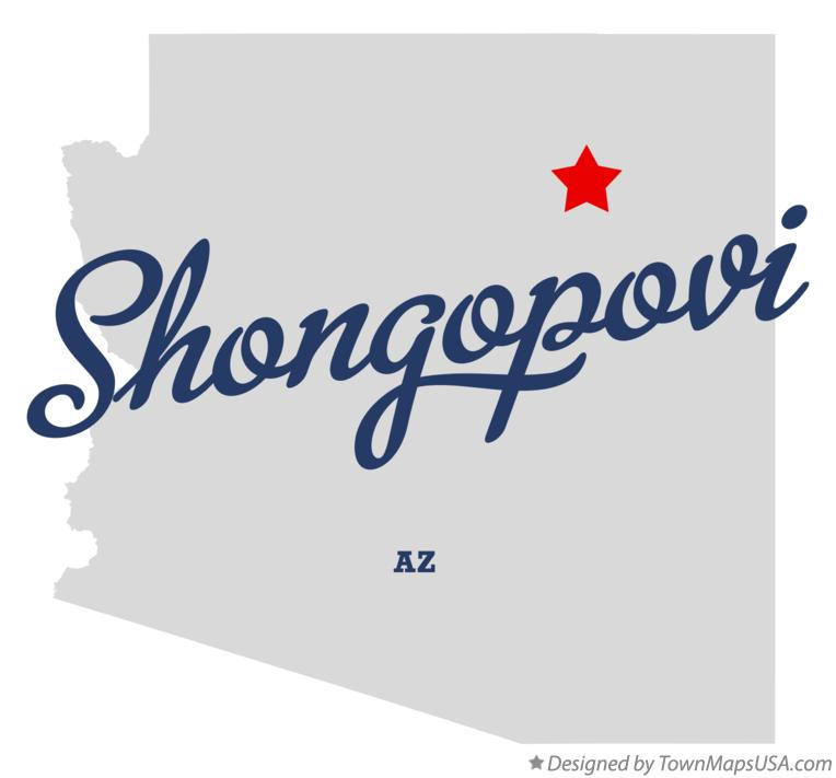 Map of Shongopovi Arizona AZ