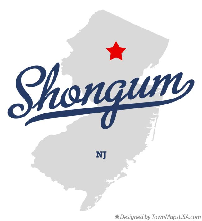Map of Shongum New Jersey NJ