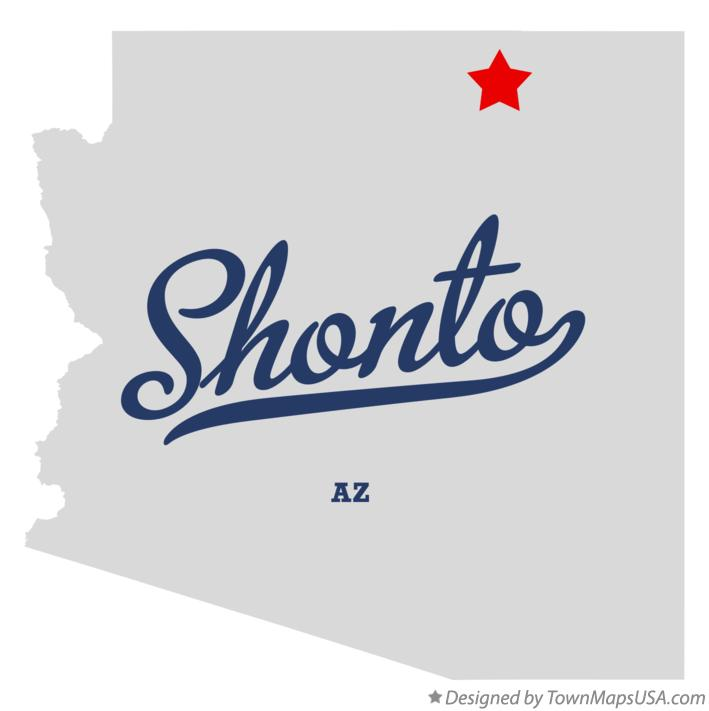 Map of Shonto Arizona AZ