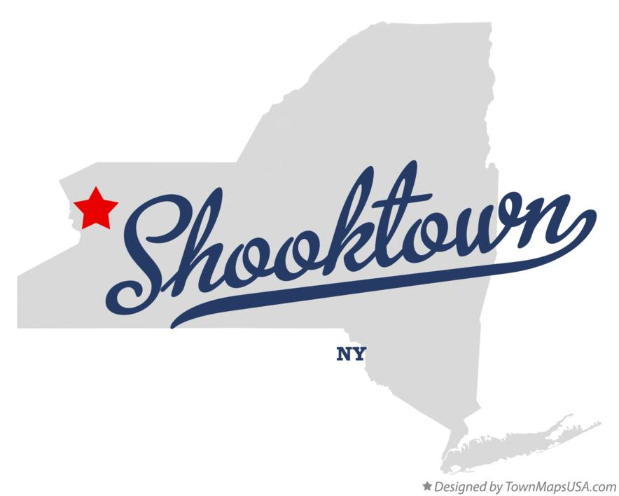 Map of Shooktown New York NY