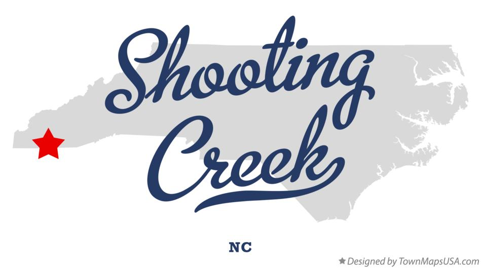 Map of Shooting Creek North Carolina NC
