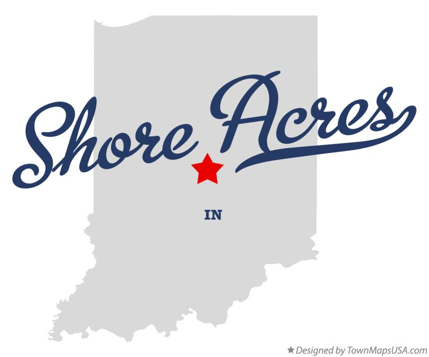 Map of Shore Acres Indiana IN