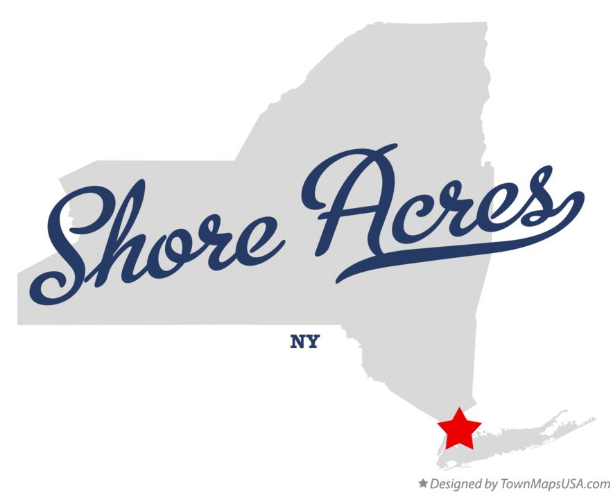 Map of Shore Acres New York NY