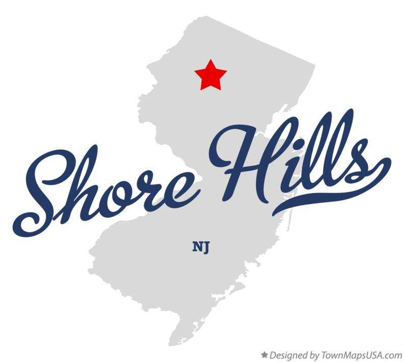 Map of Shore Hills New Jersey NJ