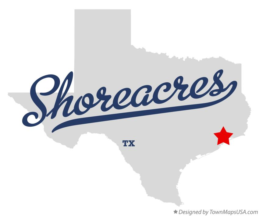 Map of Shoreacres Texas TX