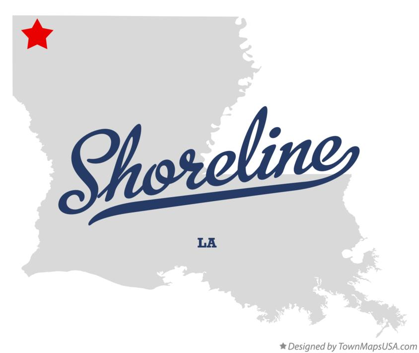 Map of Shoreline Louisiana LA