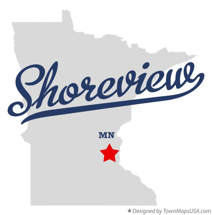 Map of Shoreview Minnesota MN