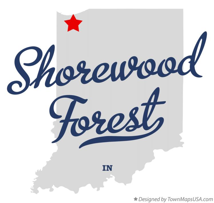 Map of Shorewood Forest Indiana IN