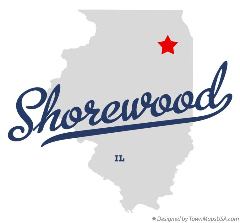 Shorewood (IL) United States  city pictures gallery : Map of Shorewood, IL, Illinois