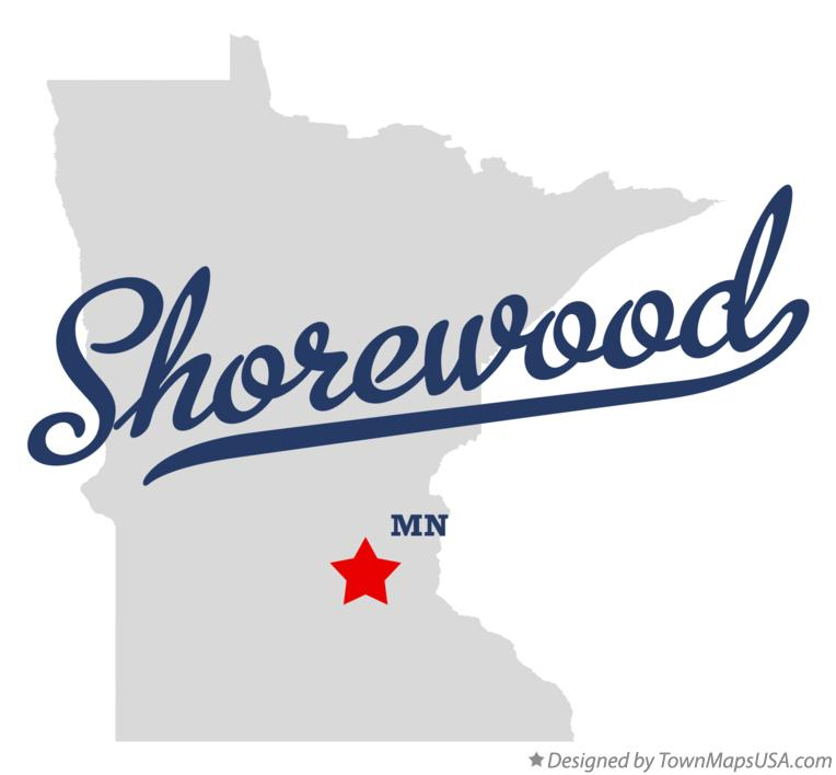 Map of Shorewood Minnesota MN
