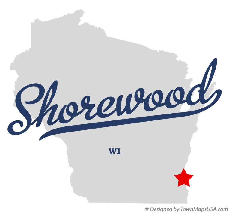 Map of Shorewood Wisconsin WI