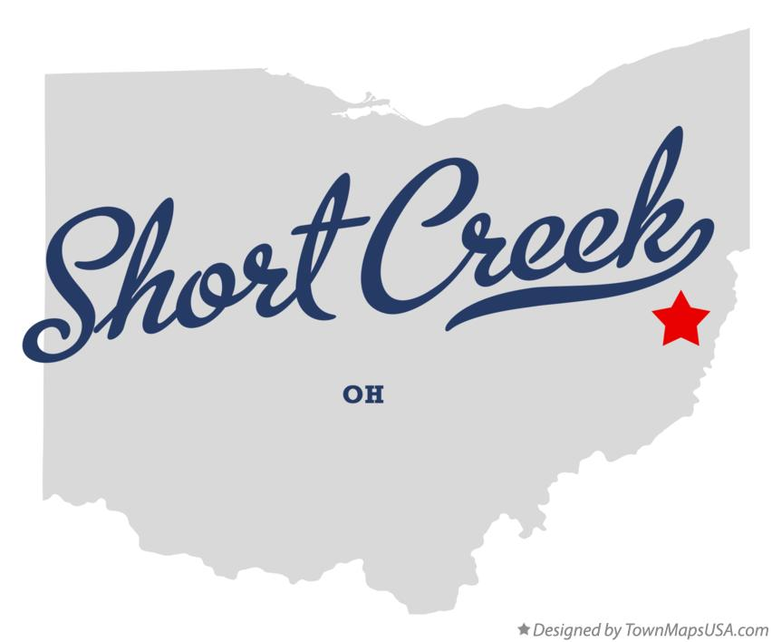 Map of Short Creek Ohio OH