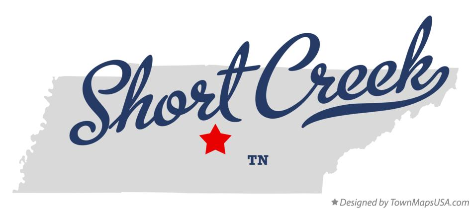 Map of Short Creek Tennessee TN