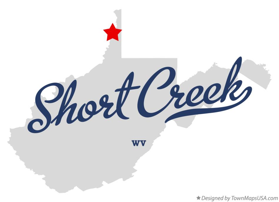 Map of Short Creek West Virginia WV