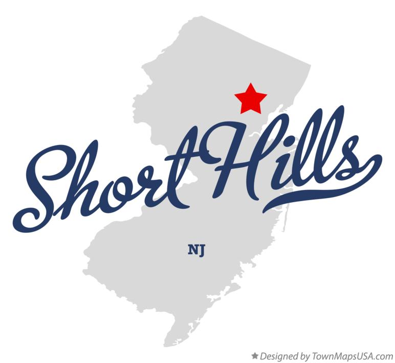 Map of Short Hills New Jersey NJ