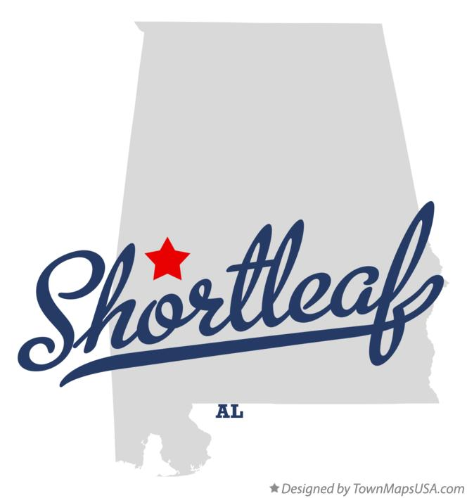 Map of Shortleaf Alabama AL