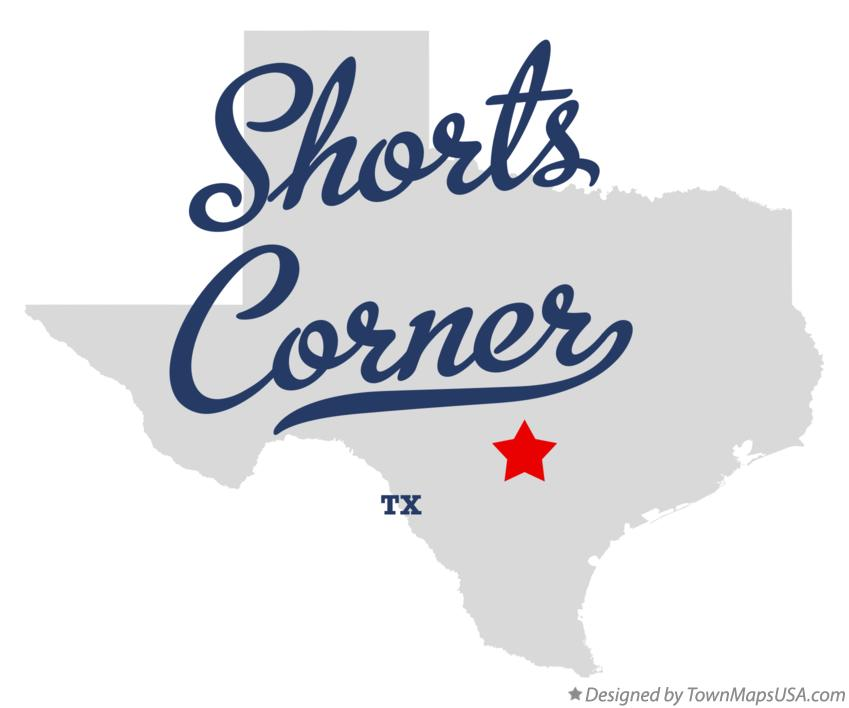 Map of Shorts Corner Texas TX