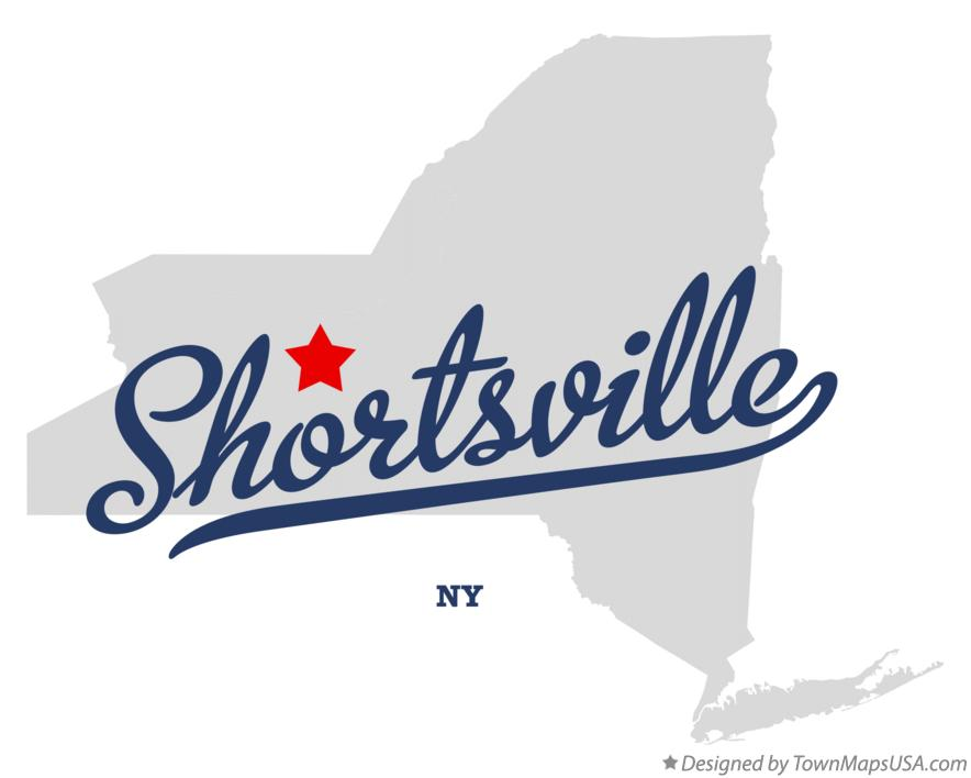 Map of Shortsville New York NY