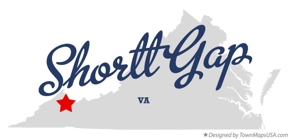 Map of Shortt Gap Virginia VA