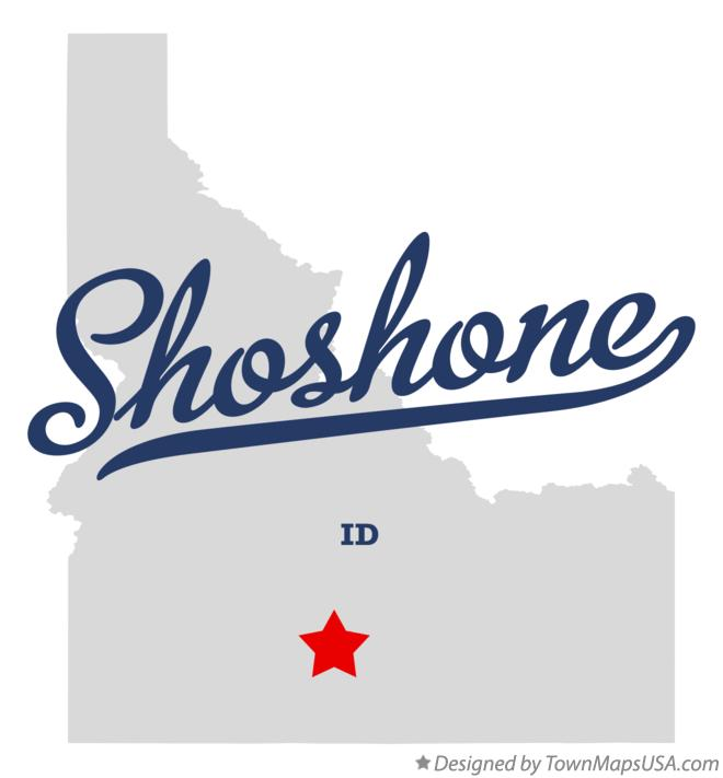 Shoshone Idaho Map.Map Of Shoshone Id Idaho