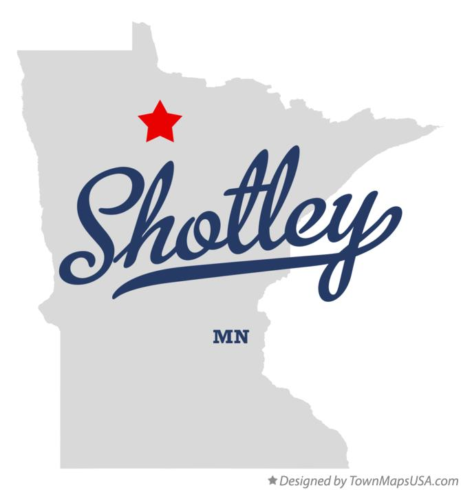 Map of Shotley Minnesota MN
