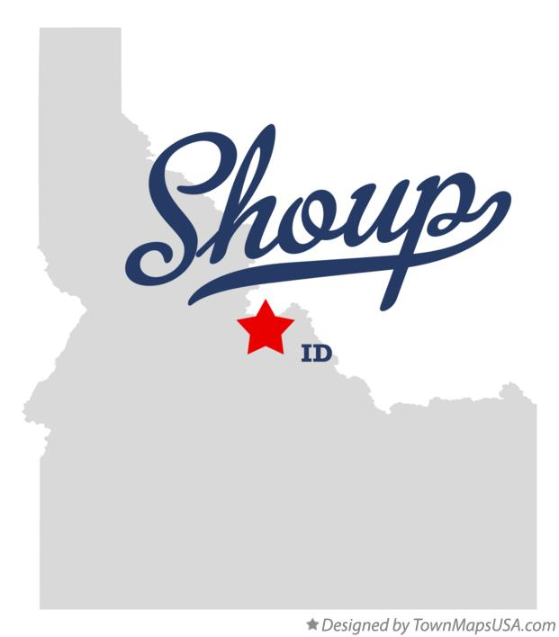 Map of Shoup Idaho ID