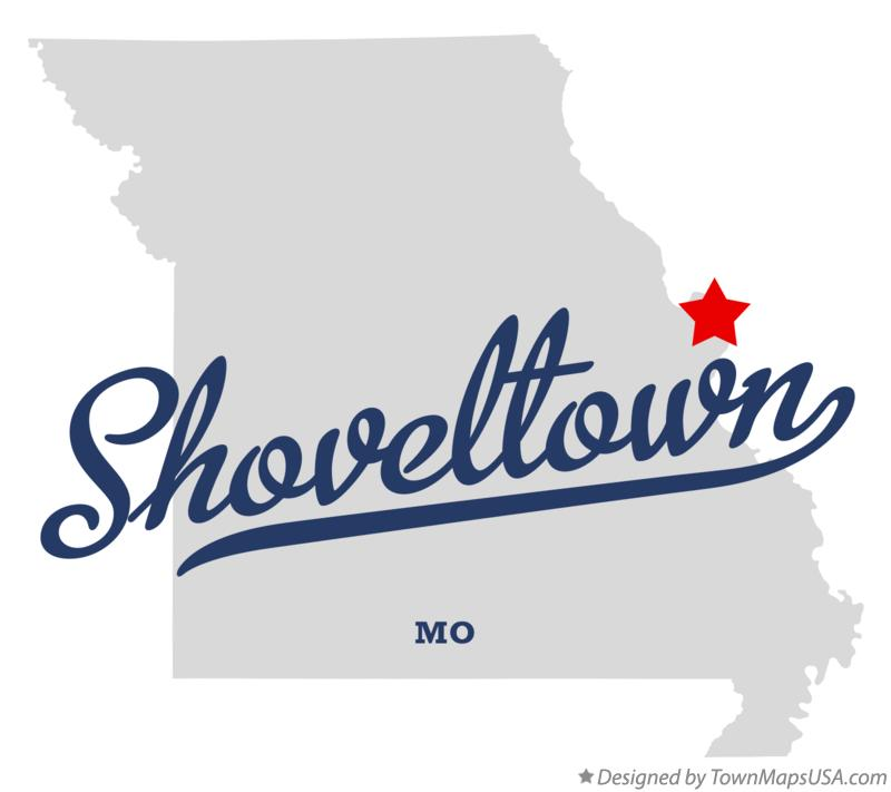 Map of Shoveltown Missouri MO