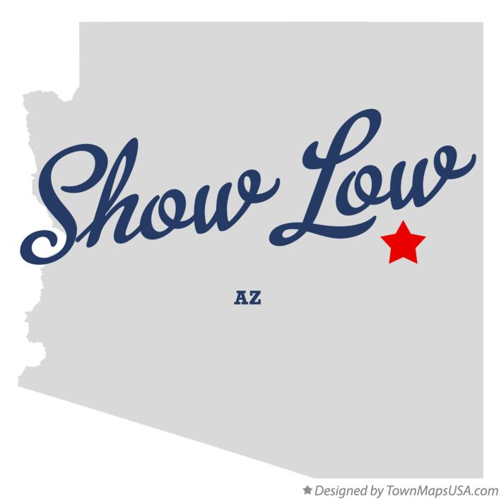Map of Show Low Arizona AZ