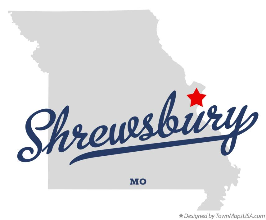 Map of Shrewsbury Missouri MO