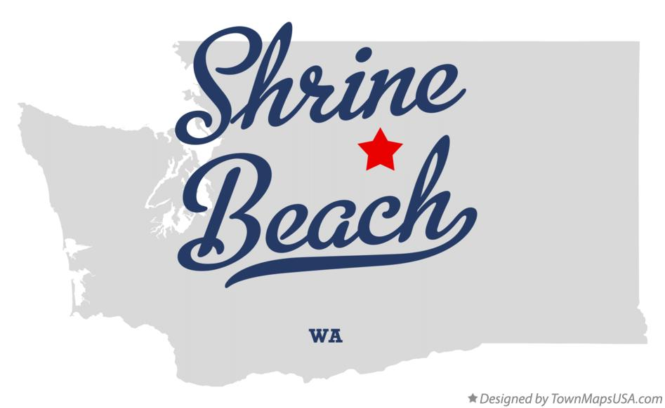 Map of Shrine Beach Washington WA