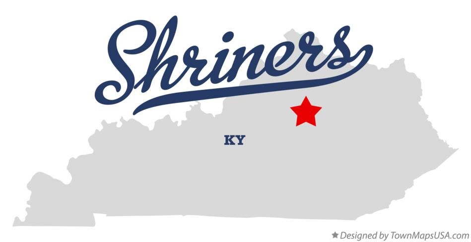 Map of Shriners Kentucky KY