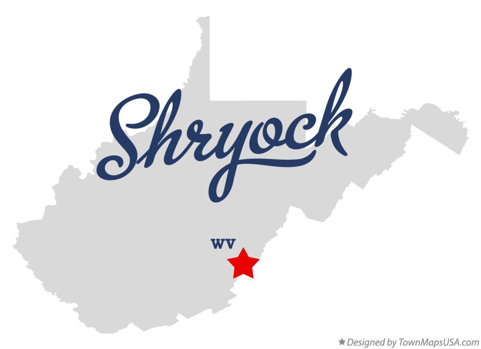 Map of Shryock West Virginia WV