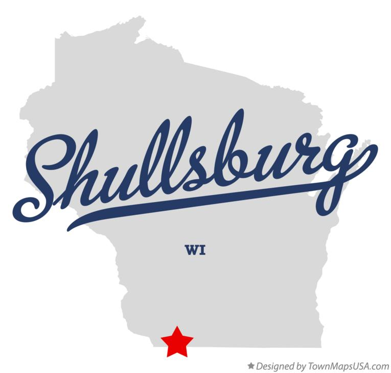 Map of Shullsburg Wisconsin WI