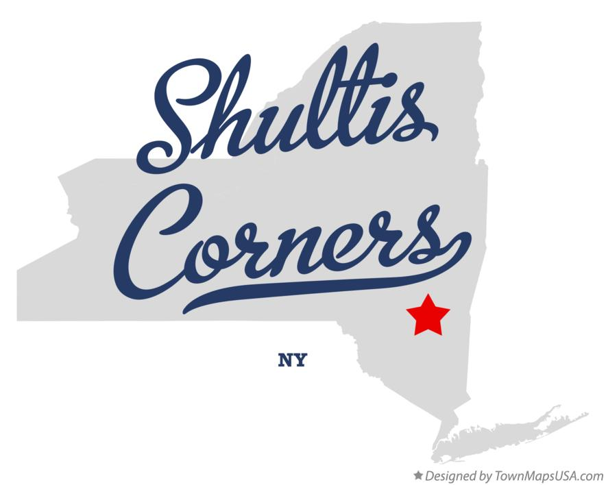 Map of Shultis Corners New York NY