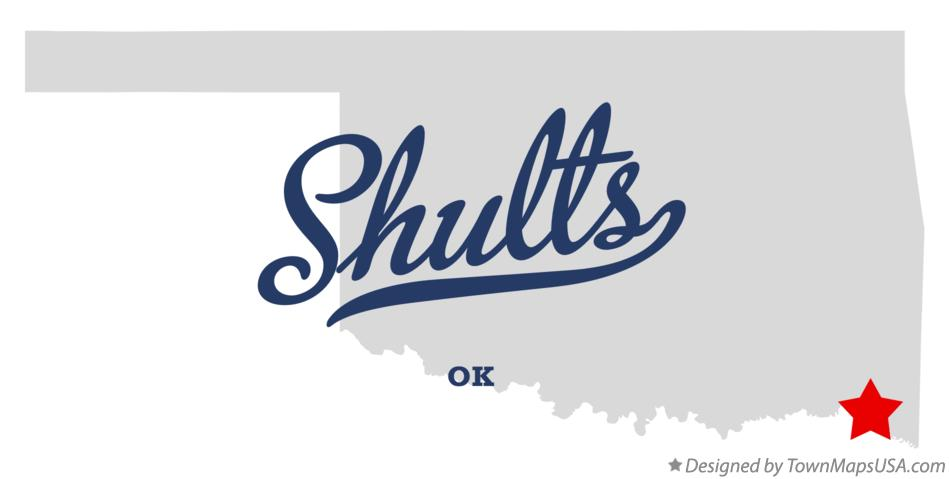Map of Shults Oklahoma OK