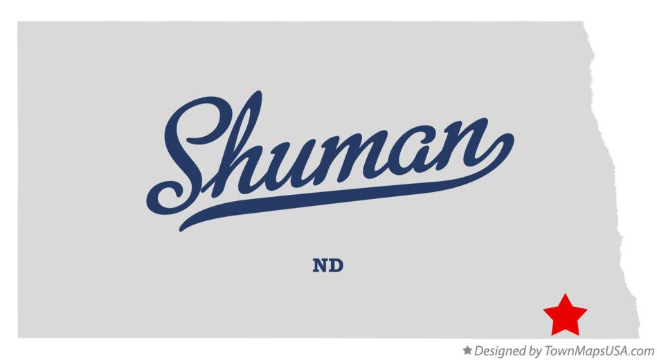 Map of Shuman North Dakota ND
