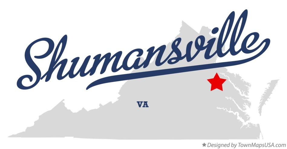 Map of Shumansville Virginia VA