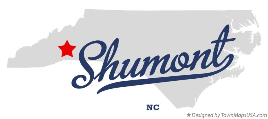 Map of Shumont North Carolina NC