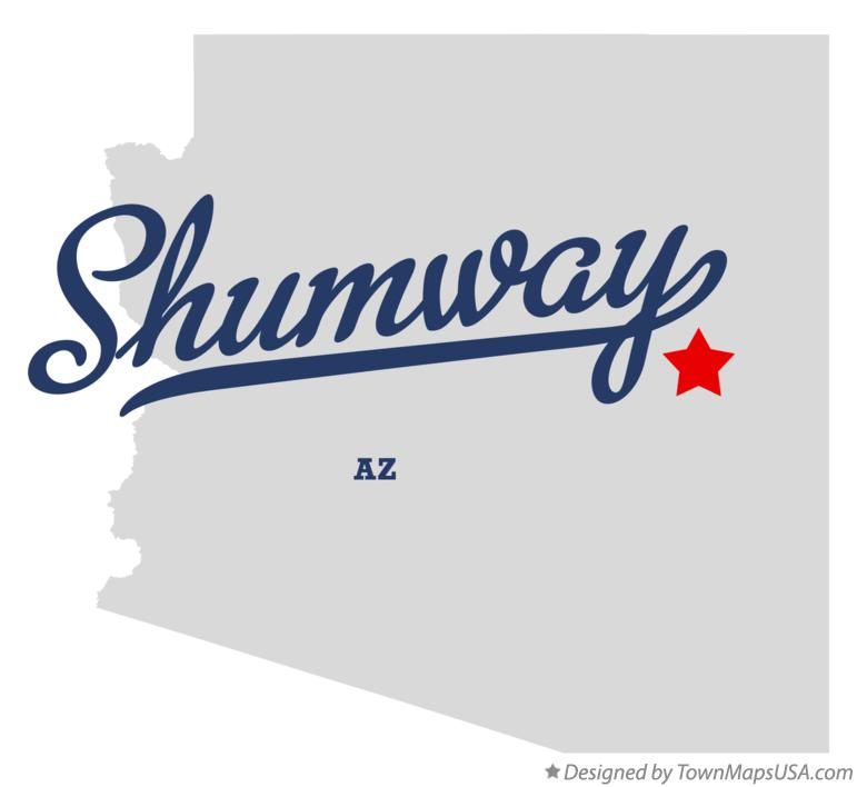 Map of Shumway Arizona AZ
