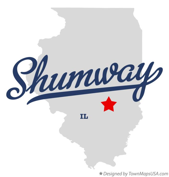 Map of Shumway Illinois IL