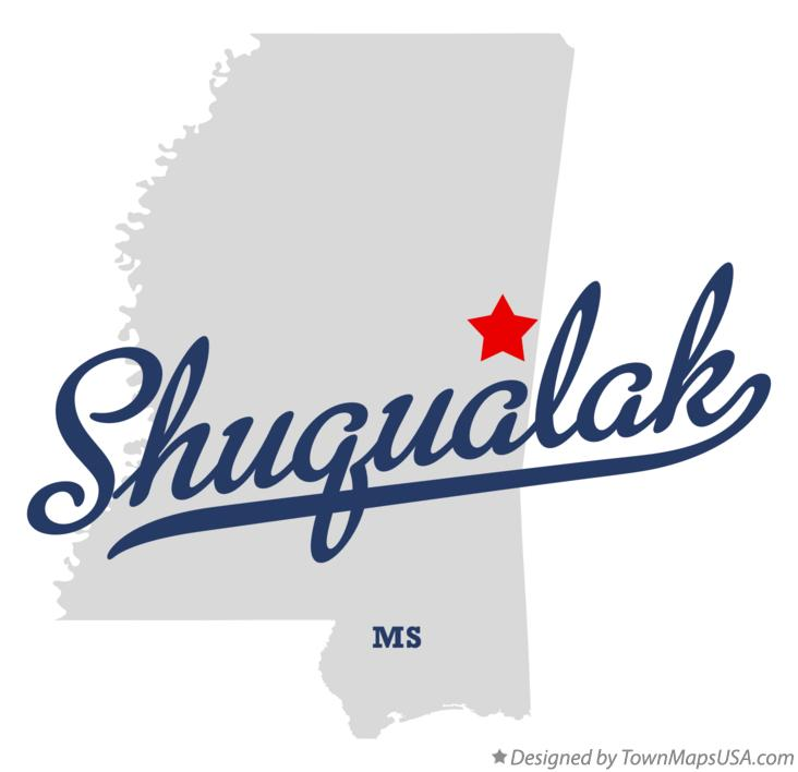 Map of Shuqualak Mississippi MS
