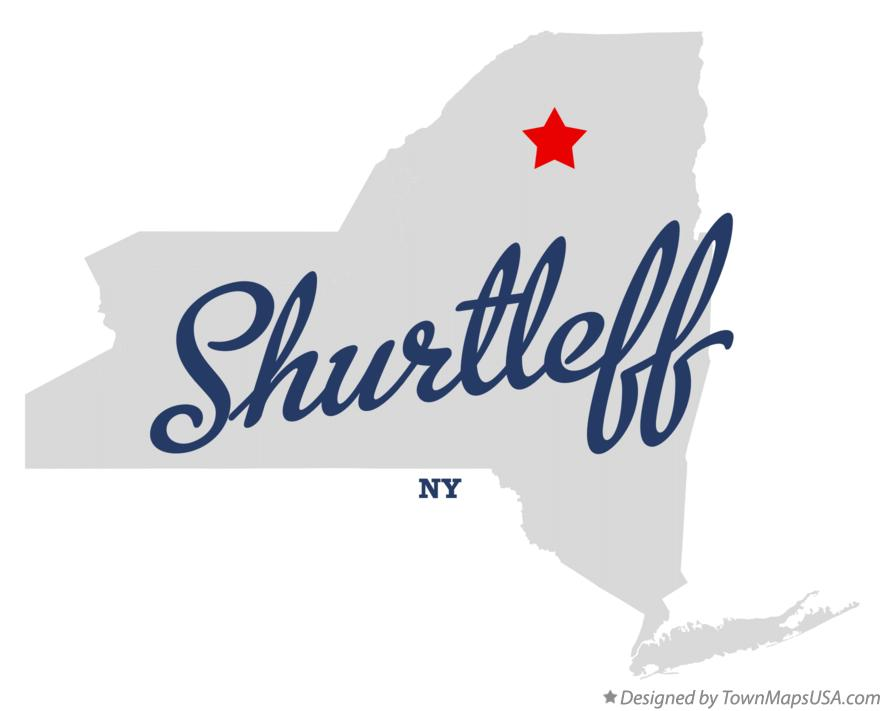 Map of Shurtleff New York NY