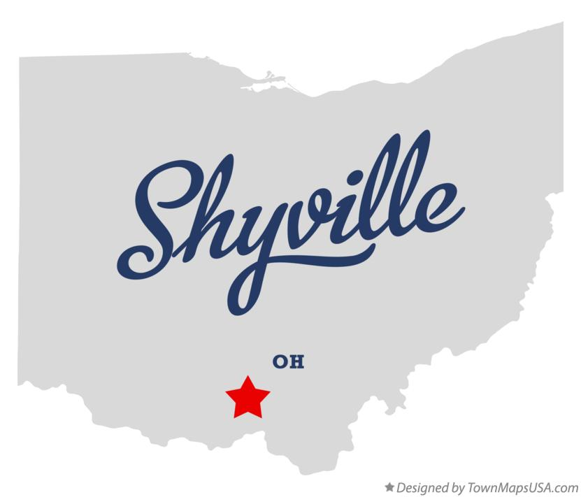Map of Shyville Ohio OH