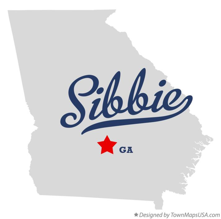 Map of Sibbie Georgia GA