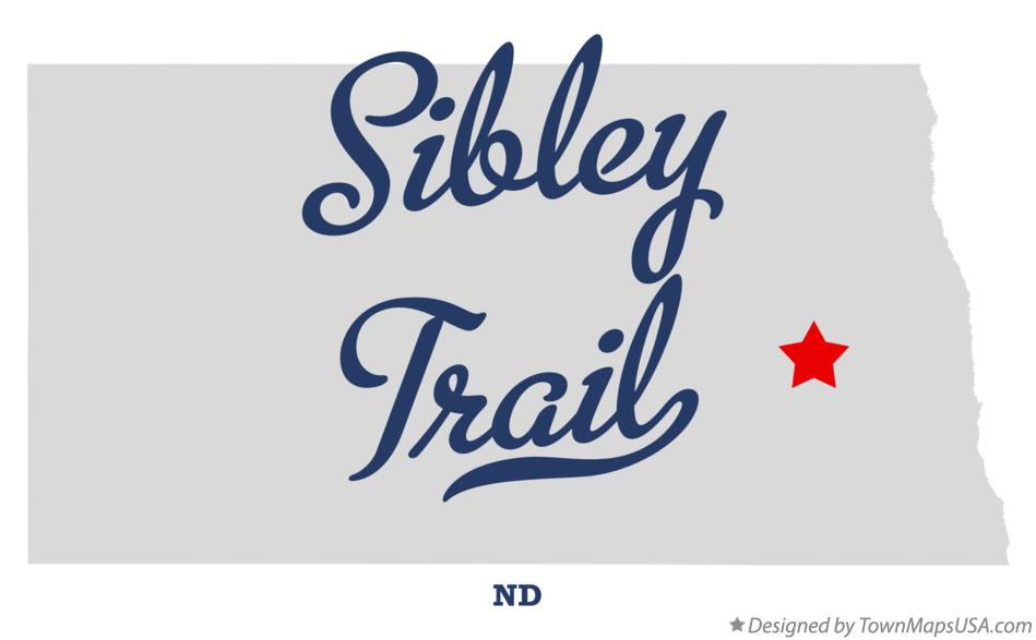Map of Sibley Trail North Dakota ND