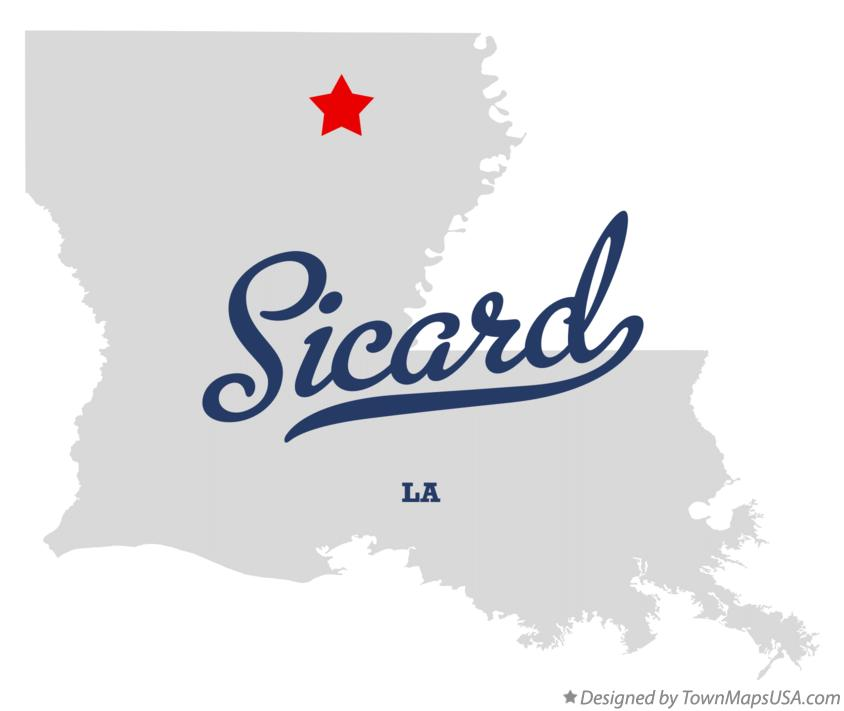 Map of Sicard Louisiana LA