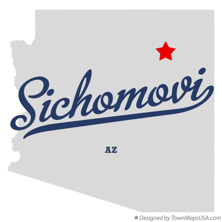 Map of Sichomovi Arizona AZ