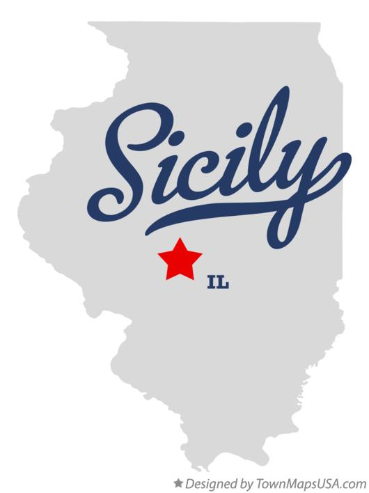 Map of Sicily Illinois IL